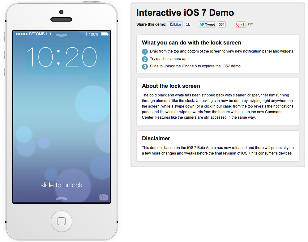 ios7 beta test demo