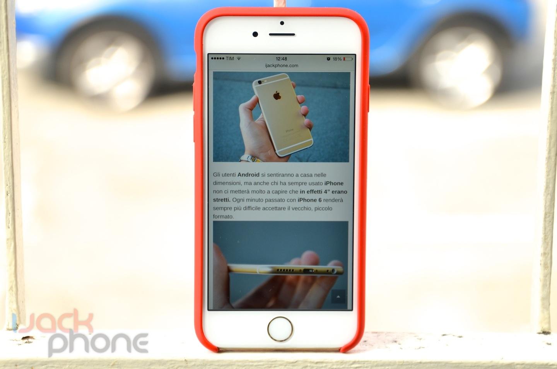 custodia in silicone per iphone 6 recensione