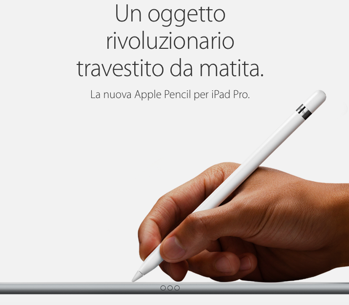 Apple pencil italiano