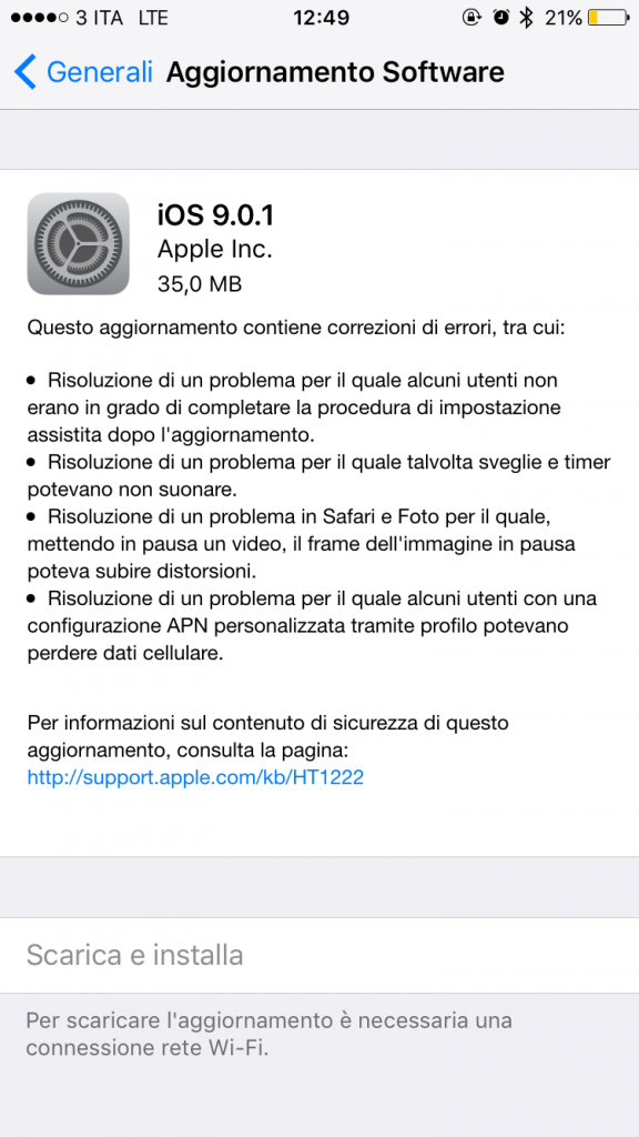 ios 9.0.1 iphone 6