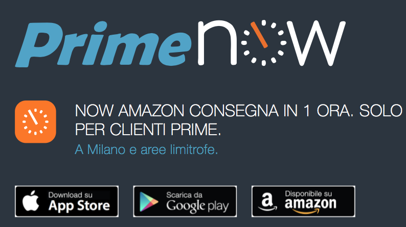 amazon prime now 1 ora-